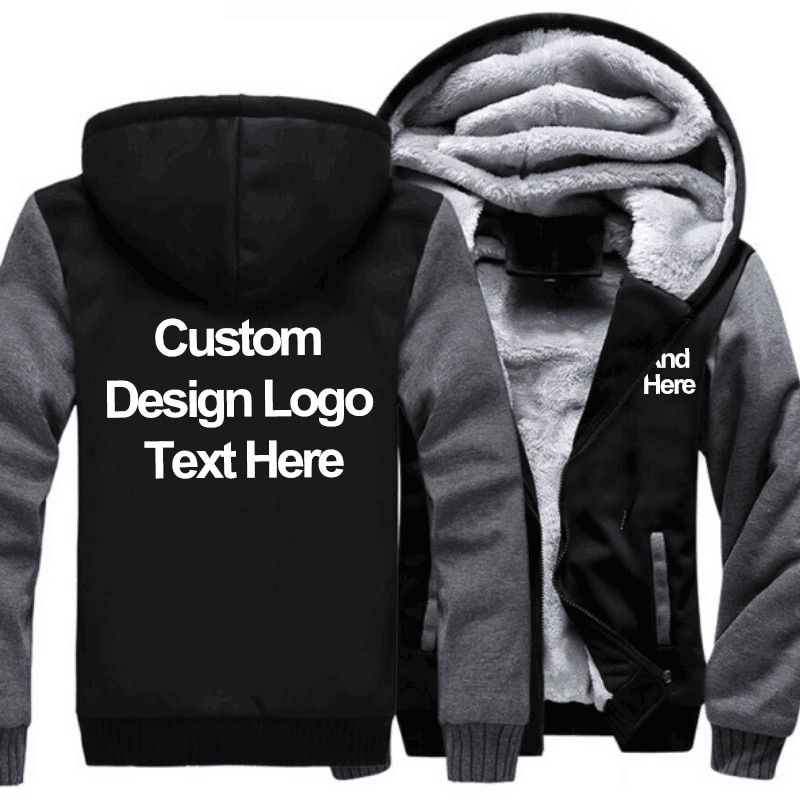 Professionally Custom Tree of National Flag Canadian Coat Zipper Hoodie Winter Thicken Jacket Sweatshirts