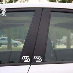 Aliauto 4 X MS Logo Reflektif Car Sticker Dan Decal B kolom Untuk Mazda 2 Mazda 3 Mazda 6 Mazda cx 5