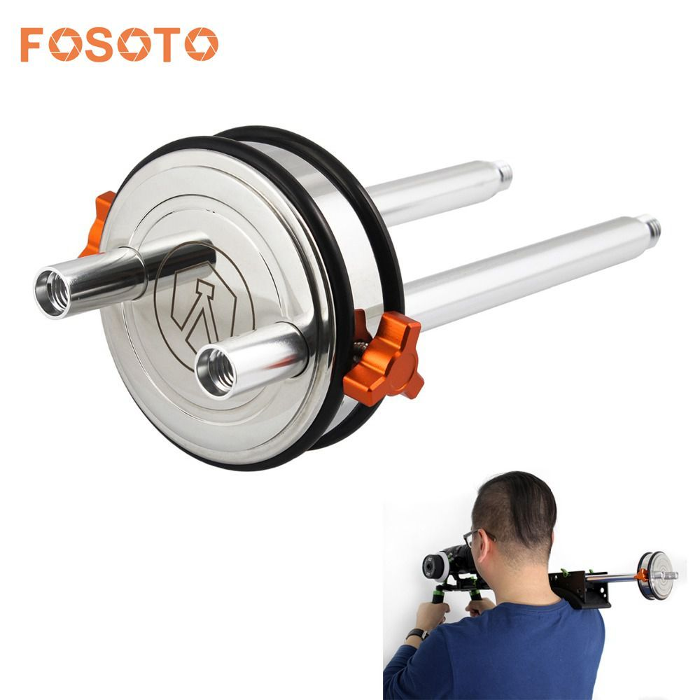 fosoto Stainless Steel DSLR Shoulder Rig Counter Weight with 2x 8