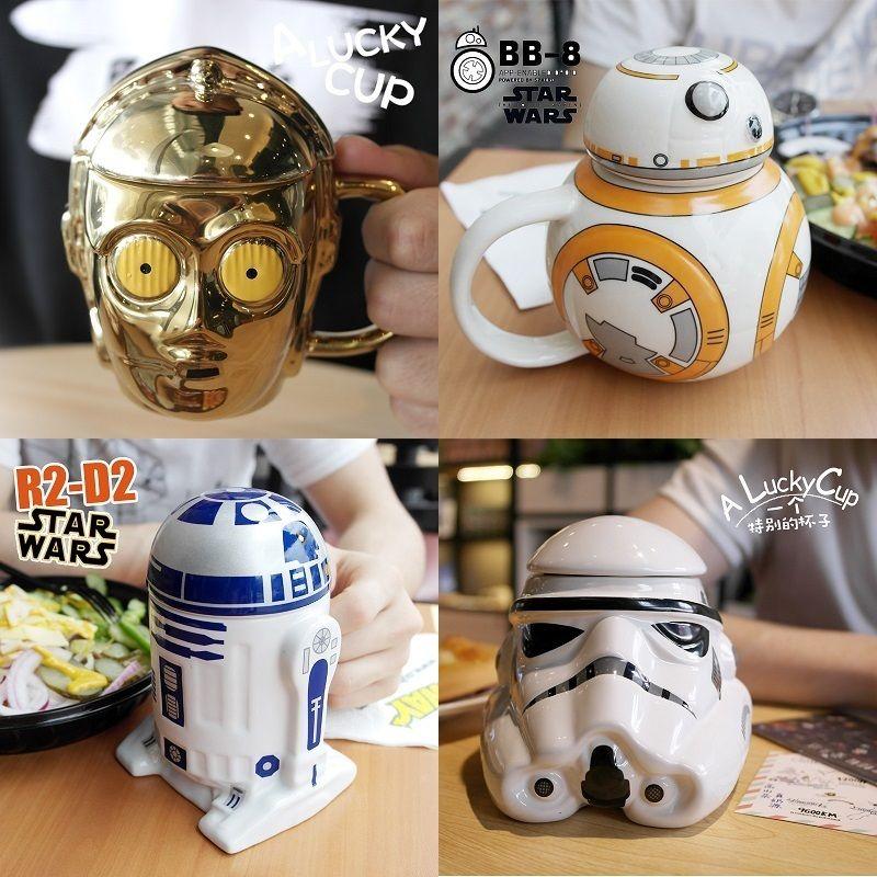 OUSSIRRRO Star Wars Mug R2D2 BB Darth Vader 3D Coffee And Drink Cup High Temperature Manufacture Ceramics