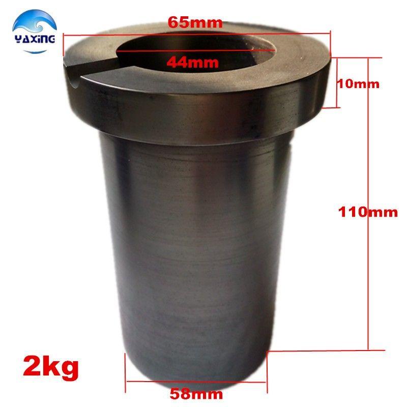 Creuset de graphite de fusion de haute pureté de 2 kg pour la fusion de l'or