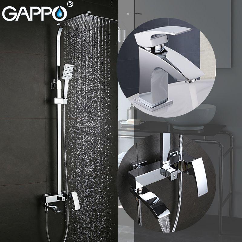 GAPPO Bathtub Faucets bath tub taps brass basin mixer taps waterfall bathroom faucet basin faucet