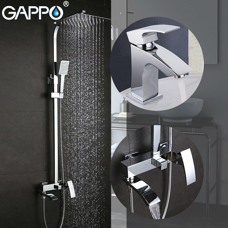 GAPPO Bathtub Faucets bath tub taps brass basin mixer taps waterfall bathroom faucet basin faucet
