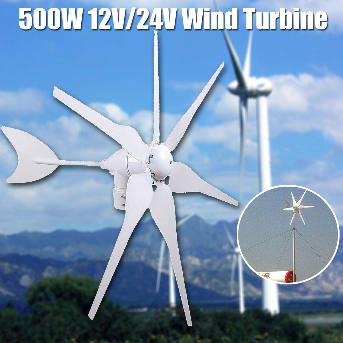 500 watt 12 v/24 v Energie Umwelt 6 Klingen Mini Wind Turbinen Generator Miniatur Windkraftanlagen Wohn Hause mit Controller
