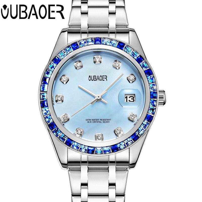OUBAOER Brand watch relojes mujer 2017 relogio feminino ladies watch wristwatches women clock women quartz watch horloge saat