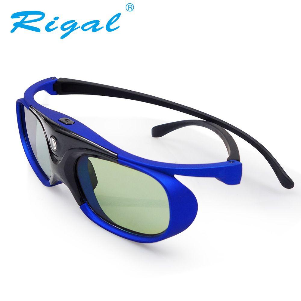 Rigal GS1000 3D Aktive Shutter Brille DLP Projektor 3D Gläser Für XGIMI Z3/Z4, muttern G1/P2, BenQ, Optoma, Acer Projektor
