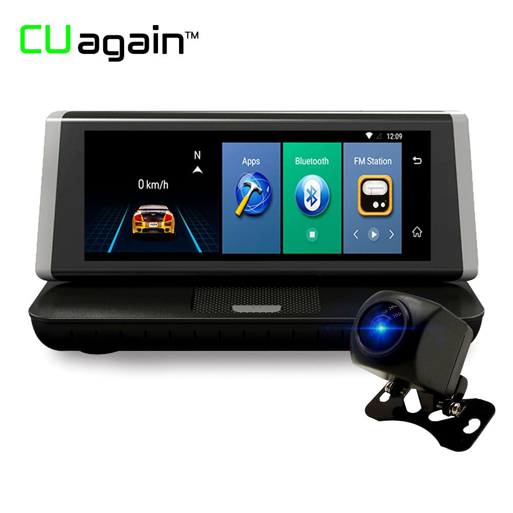 CUagain CU2 8'' Car gps Android Wifi DVR 4G 1080P hd gps Car Navigation Camera Carro Rear Parking Bluetooth Camera Car Recorder