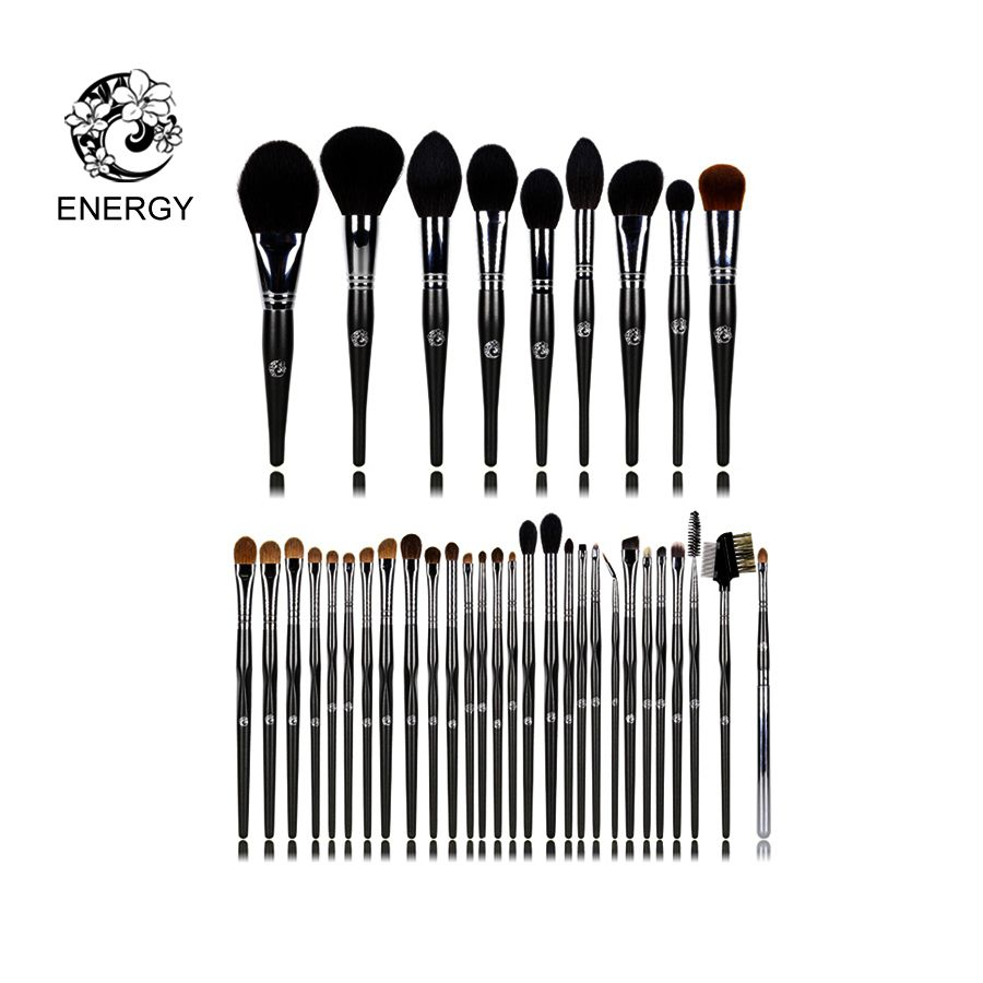 ENERGIE Marke Professionelle 37 stücke Tier Haar Make-Up Pinsel Make Up Pinsel Set Kit-Up Brochas Pinceaux Maquillage FM37AW