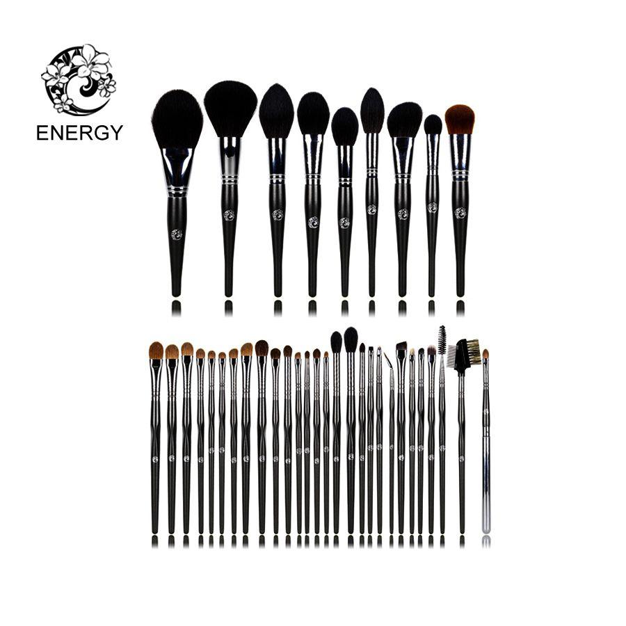 ENERGY Brand Professional 37pcs Animal Hair Makeup Brushes Make Up Brush Set Kit Brochas Maquillaje Pinceaux Maquillage FM37AW