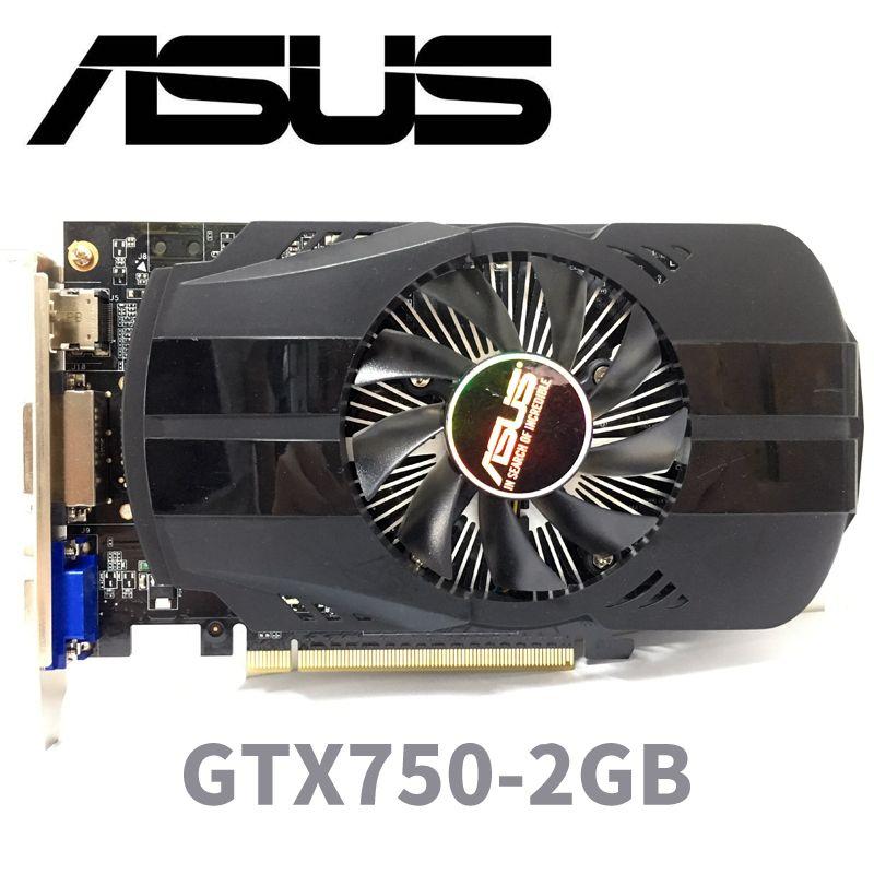 Asus GTX-750-FML-2GB GTX750 GTX 750 2G D5 DDR5 128 Peu PC De Bureau Cartes Graphiques PCI Express 3.0 ordinateur Graphique cartes