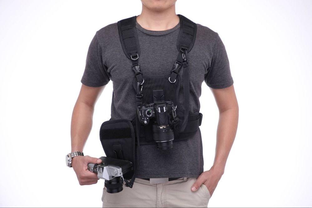 Carrier II Multi Dual 2 камера переноски нагрудный ремень системы жилет Быстрый с боковой кобура для Canon Nikon sony Pentax DSLR