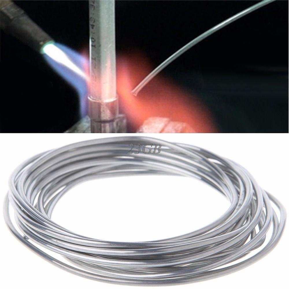 2mm * 3 mètre Cuivre fourré en Aluminium de Basse Température de fil De Soudure En Aluminium Tige M25
