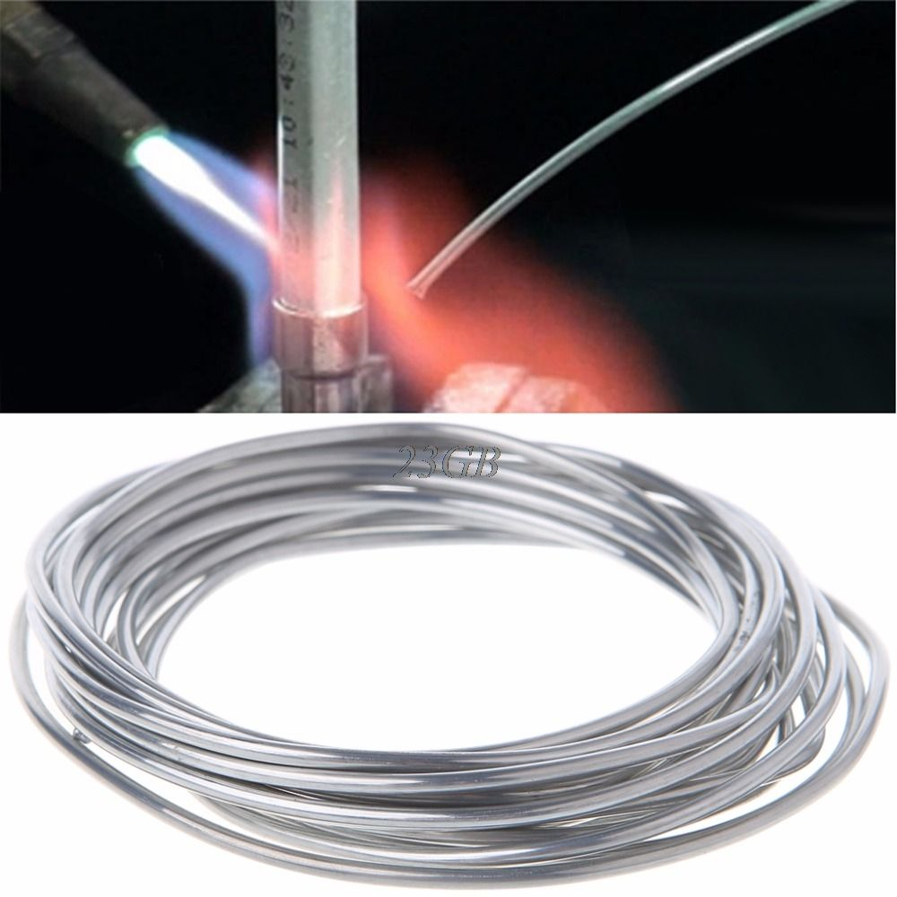 2mm*3 meter Copper aluminum cored wire Low Temperature Aluminium Welding Rod M25