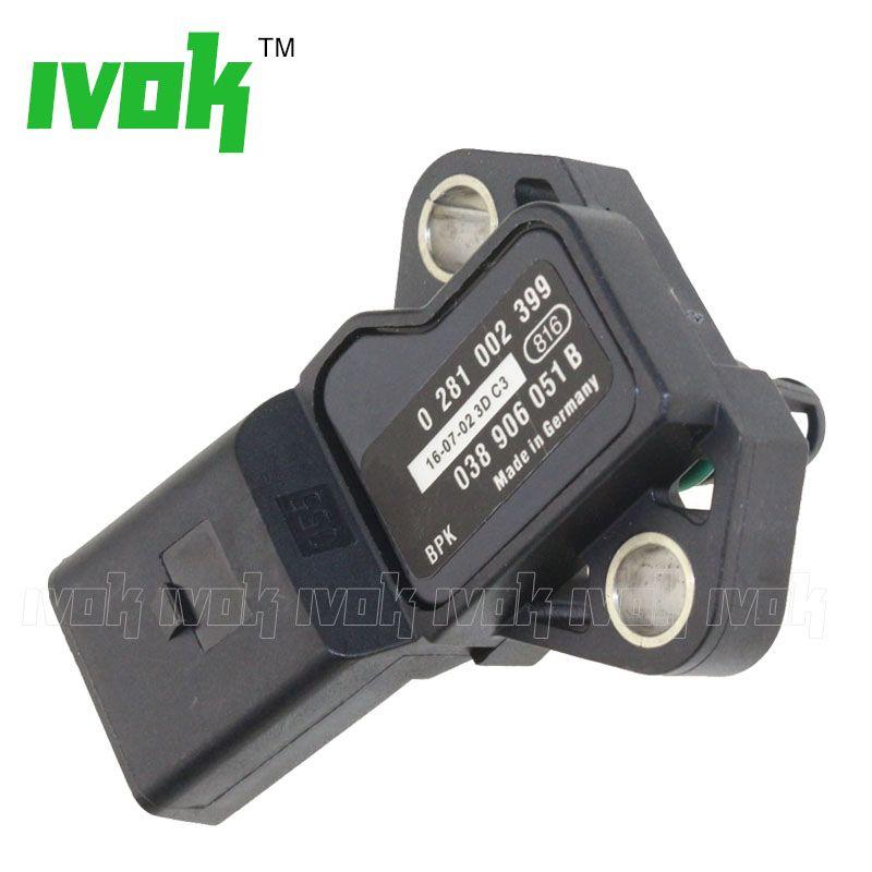 2.5 Bar MAP Sensor Manifold Absolute Turbo Intake Air Boost Pressure Sensor 0281002399 038906051B For Audi VW Seat Jetta Skoda