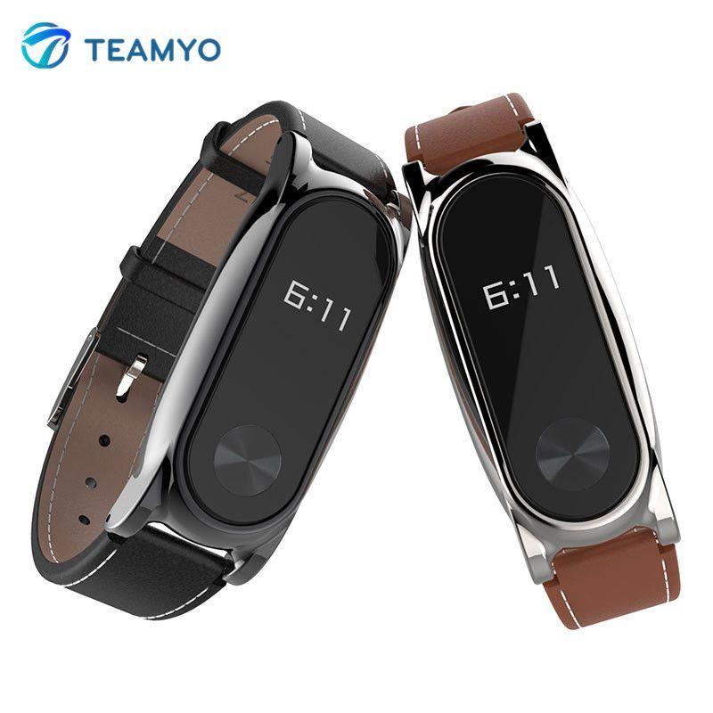 Mijobs Lederband Für Xiaomi Mi Band 2 Wrist Straps Schraubenlose armband mi band 2 band Ersetzen Zubehör Für xiomi miband 2