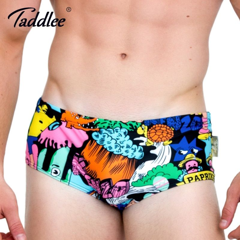 Taddlee Brand 2017 New Sexy Men Swimwear Gay Swimsuits Swim Briefs Bikini Men's Swimming Boxer Trunks Surf Board Shorts Batihing