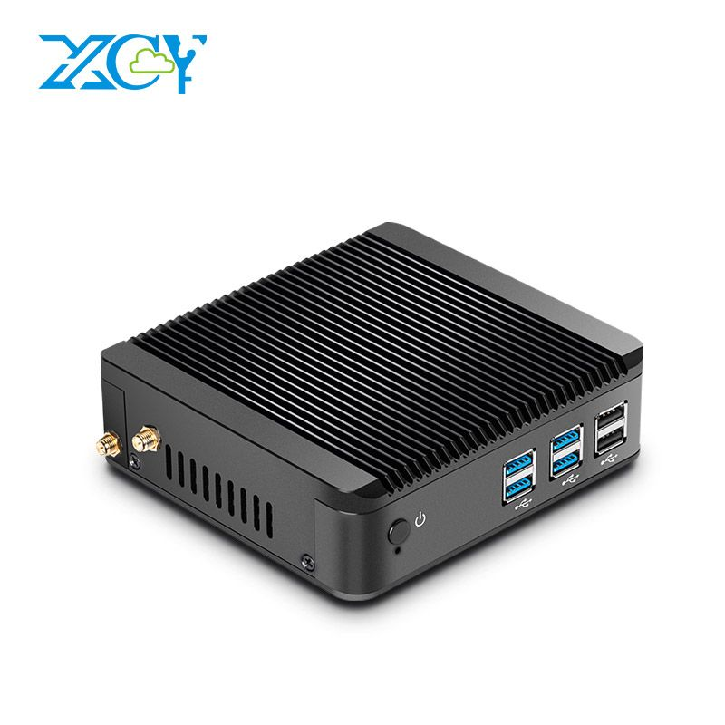 XCY Mini PC Windows 10 Intel Core i3 4010Y i5 4200Y i7 4610Y Dual Core Fanless Mini Desktop PC HDMI VGA WiFi Nettop HTPC