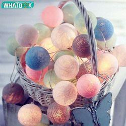 3 м 20 светодиодов ватные шарики гирлянды батарея гирлянда из светящихся хлопковых шариков цепь теплый белый Guirlande Lumineuse Рождественская гирл...
