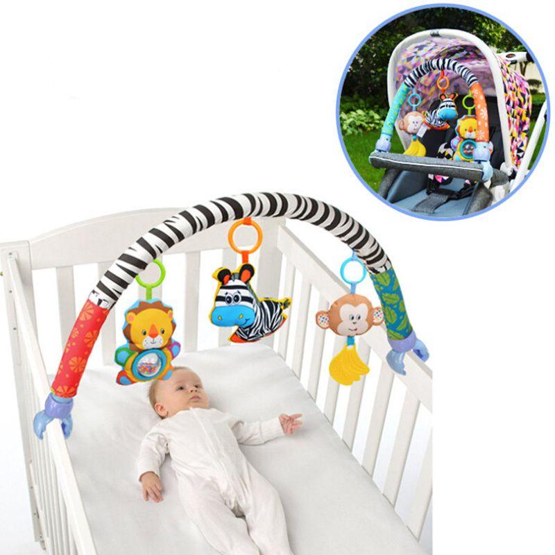 Nouveau mignon spirale activité poussette siège de voiture lit bébé jouets de voyage bébé hochets jouet Mobiles 20% off