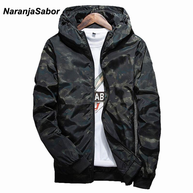 Naranjasabor primavera otoño mens casual camuflaje sudadera hombres ropa impermeable cazadora de abrigo hombres Outwear 4XL