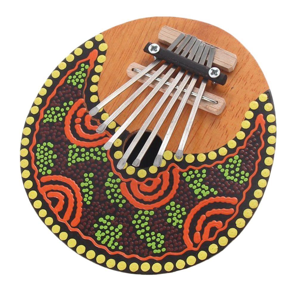 Kalimba Thumb Piano 7 Keys Tunable Coconut Shell Painted Musical Instrument free shipping