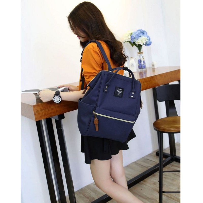 NEW fashion anello ring school backpack highest canvas printing ring package bags women's brand young men and women backpack