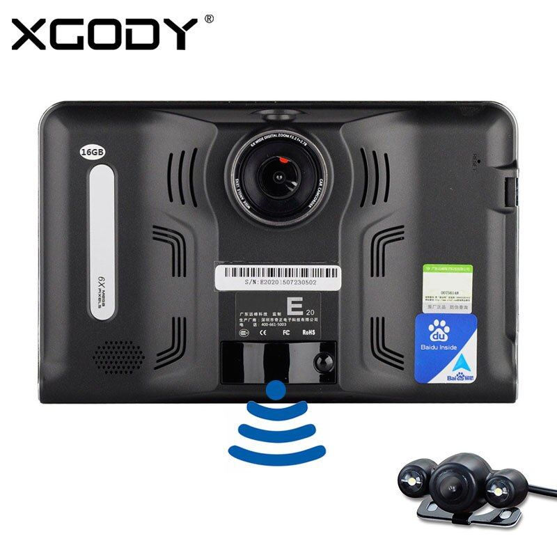 Original Eroad E20 7 inch Android Car DVR GPS Navigation 512M 16GB Tablet PC WiFi FM with Rear View Camera Navigator