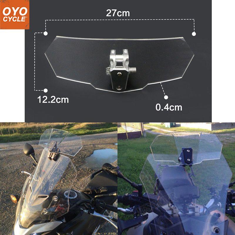Windscreen Wind Deflector Windshield For Triumph Suzuki Yamaha Honda Kawasaki KTM Universal Adjustable Airflow Motorcycle Parts