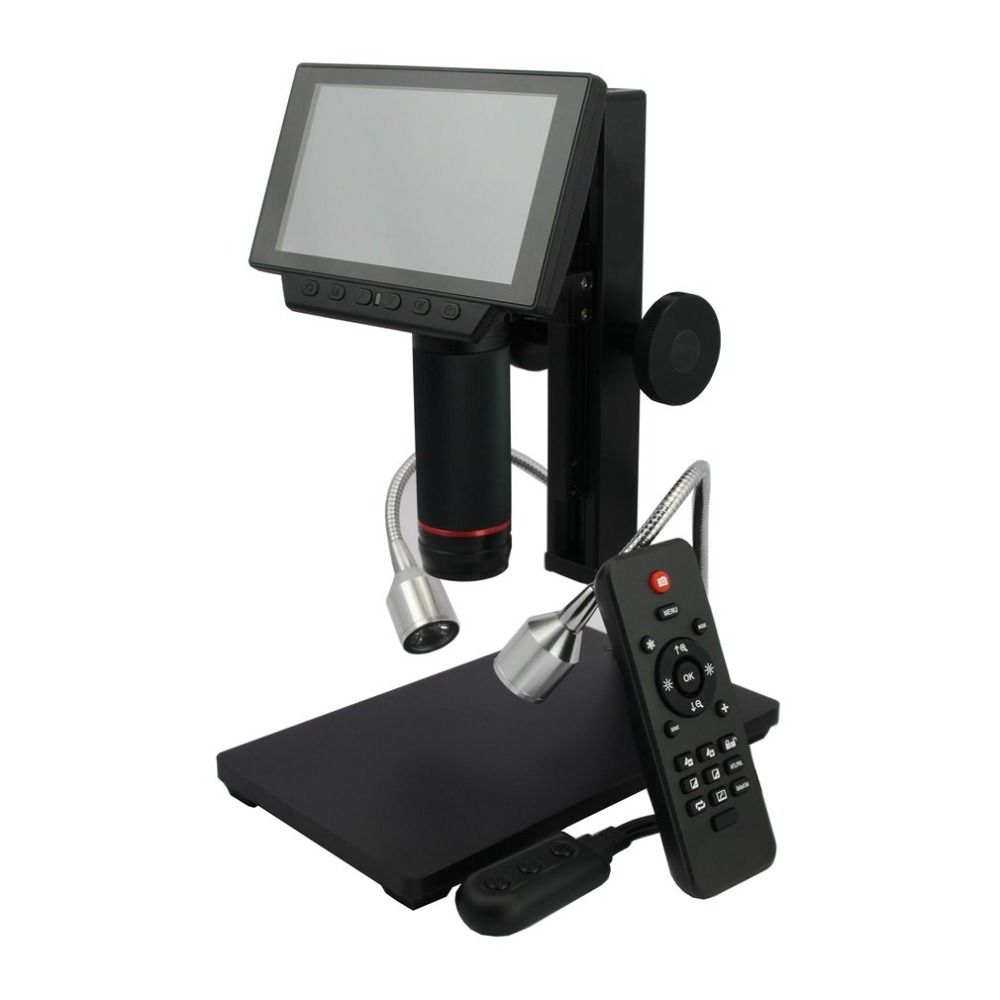 ADSM302 Digital LCD HDMI Microscope 3MP Video Recording Magnifier for PCB Repairing with IR Remote Controller US/EU/AU Plug