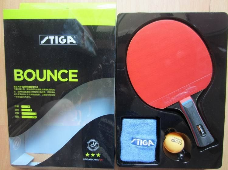 Original Stiga bounce 3 stars table tennis rackets suit for beginner finished rackets racquet sports pingpogn paddles