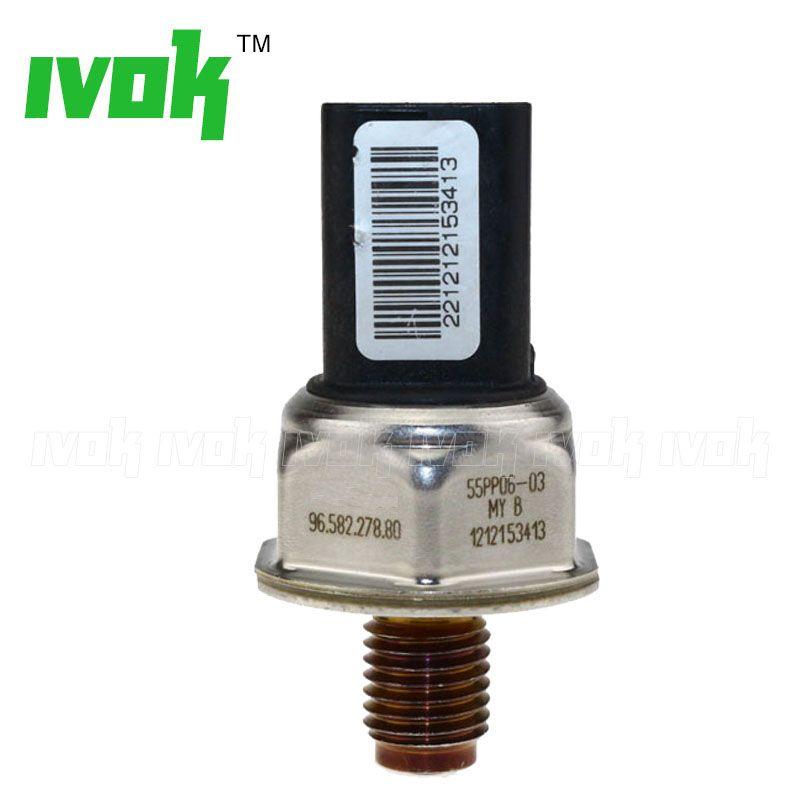 Fuel Rail Pressure Sensor For Citroen C1 C2 C3 C4 Xsara Berlingo Dispatch Picasso 1.4 1.6 HDI 55PP06-03 96.582.278.80 1920GW