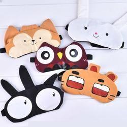 Cute Eye Mask Soft Padded Sleep Travel Shade Cover Rest Relax Sleeping Blindfold 2AU21
