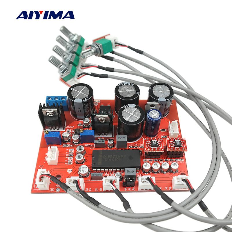 Aiyima LM4610N Tone Volume Control Board OP AMP OP275 Preamp Preamplifier Volume EQ Control LF353 LM317 LM337 Servo Power Supply