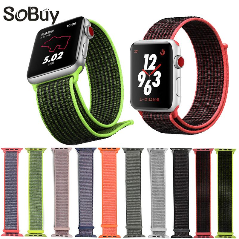 IDG sport woven nylon loop strap for apple watch band wrist braclet belt fabric-like nylon band for iwatch1 2 3 colorful pattern