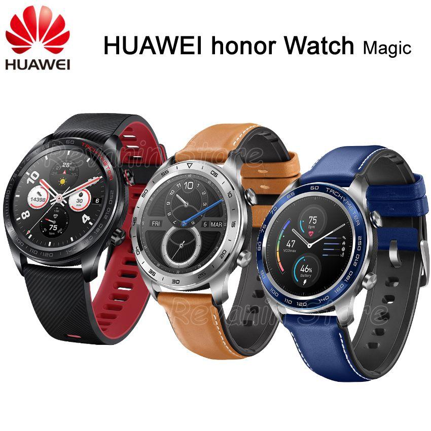 Lager! Huawei Ehre Uhr Magie Smart Uhr Sport Schlaf Laufen Radfahren Schwimmen berg GPS 1,2