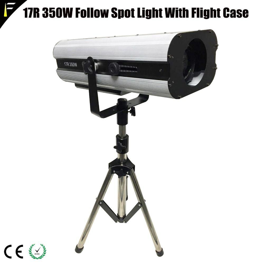 Upgrade Spot Follow Light 350w 17R DMX512 MSD Followspot Light With Flight Case For Wedding/The Bar/Theater