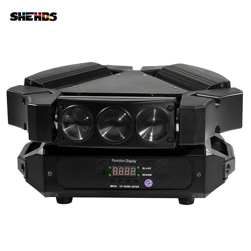 Nouveauté MINI LED 9x10 W LED lumière d'araignée RGBW 16/48CH DMX lumières de scène Dj LED lumière de faisceau de tête mobile araignée