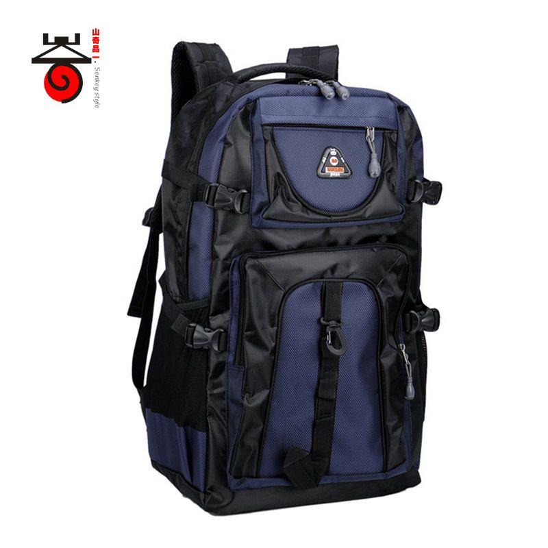 2017 Senkey style 60L Large-capacity Travel Backpack Men Women Fashion Backpack To Casual Waterproof Laptop Student school Bag