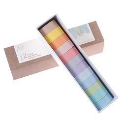 1 Set 12 Warna Washi Tape Set Perekat Dekorasi Tape Masking Stiker Diary Album Alat Tulis Sekolah