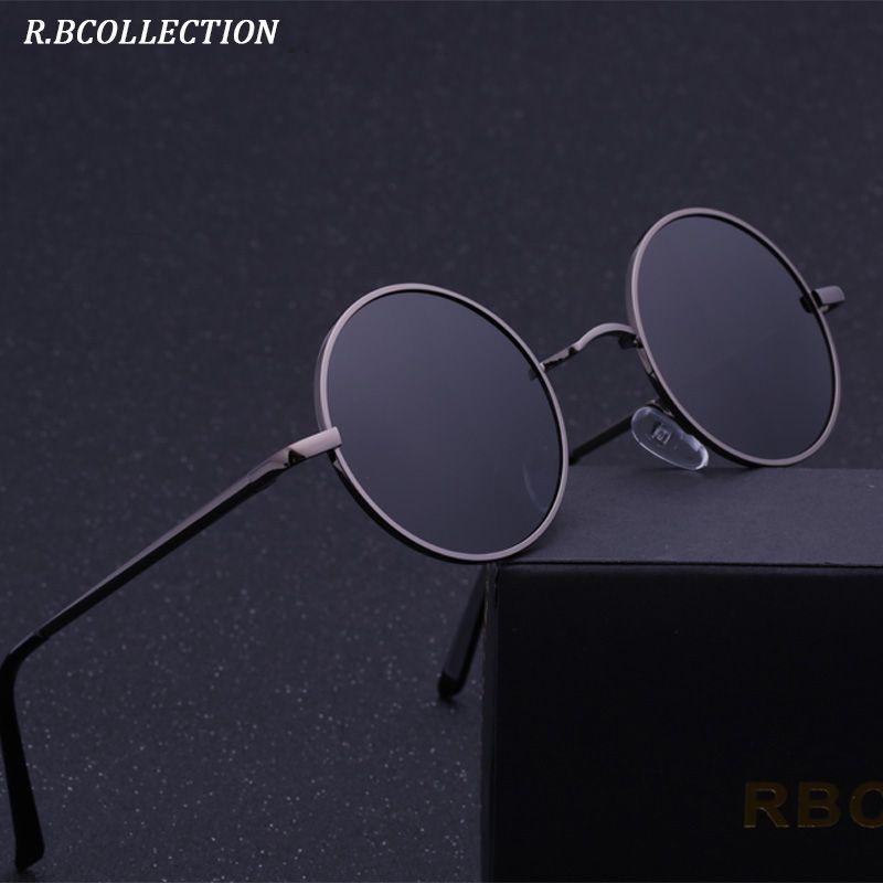 R. BCOLLECTION Steampunk lunettes de Soleil Rondes Hommes Femmes Anti-UV Polarisées Métal Cadre Rétro Lunettes de Soleil Miroir lunettes de soleil 801