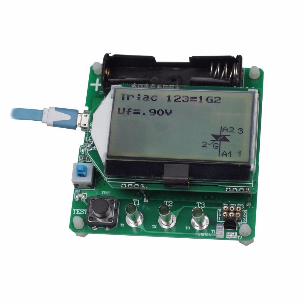 BSIDE ESR02 Digital Transistor Tester Diode Triode F C R MOS/PNP/NPN M328 Inductance Capacitance ESR Meter