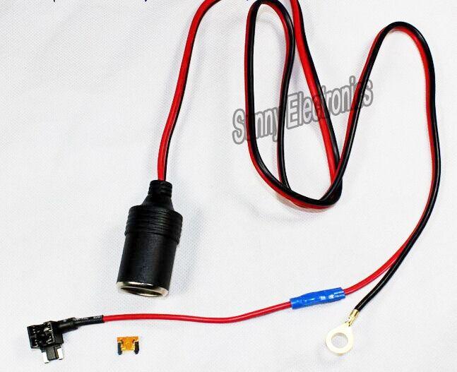 1 м 1.5mm2 автомобильного прикуривателя DC12V micro держатель предохранителя крана привести