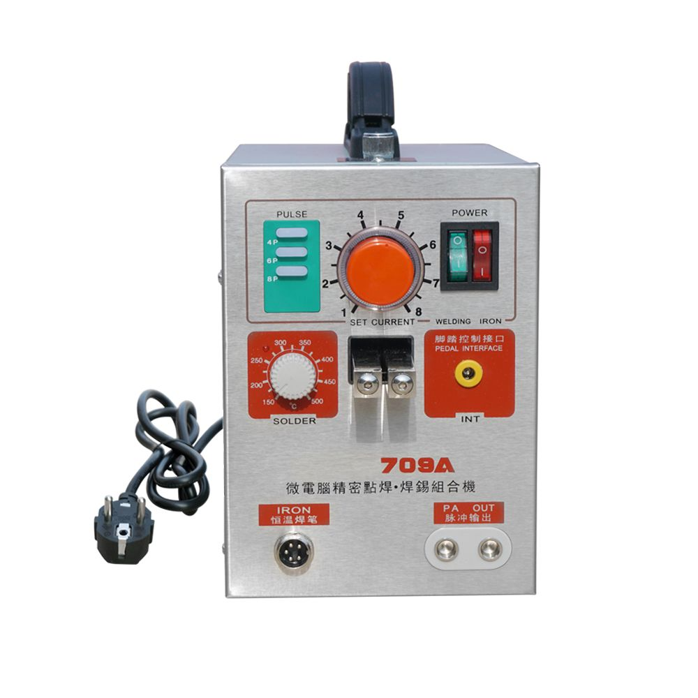 1.9KW LED Pulse Battery Spot Welder 709A Welding Machine Soldering Iron for 18650 16430 14500 Battery Pack
