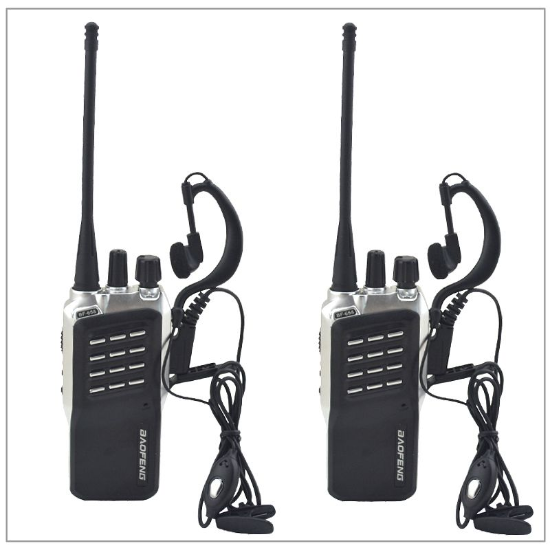 2pcs/Lot Baofeng BF-658 UHF 400-470MHz Portable Two-way radio Transceiver Baofeng Walkie-Talkie for ham,hotel with Free earpiece