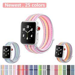 YOLOVIE Sport Loop Band for Apple Watch 40mm 44mm 38 42mm Bracelet Belt Strap Nylon Woven Wrist bands for iWatch Series 4/3/2/1