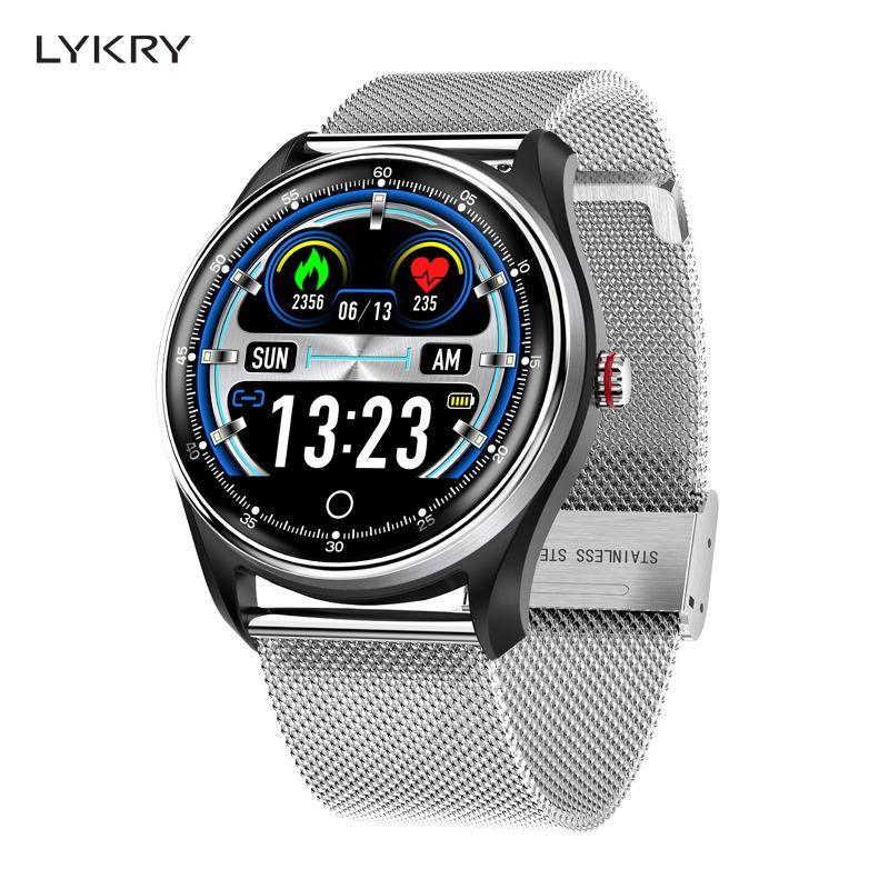 LYKRY MX9 EKG PPG Smart Uhr Blutdruck Herz Rate Monitor Multi-sprachen Leben Wasserdicht Smartwatch Für Männer Frauen