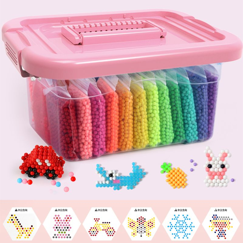 Montessori Education Brain Creative Magic aqua Box 3D Bead Girls Boys Crystal Kid Baby Toy Children Handmade Diy 3 5 7 8 Years