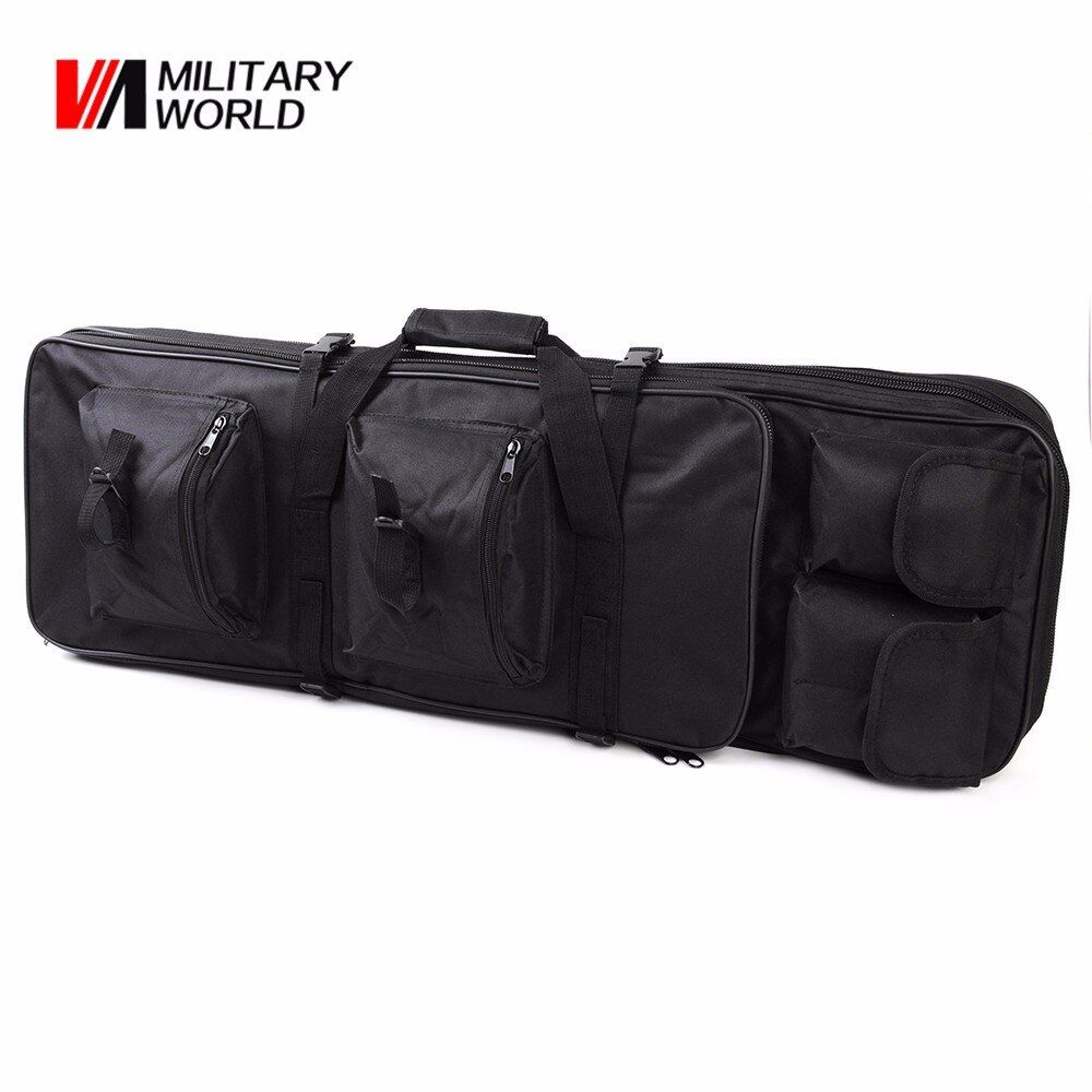 85CM Tactical Dual Rifle Bag + Shoulder Strap Airsoft Hunting Gun Backpack Handbag  Case Magazines Accessories Pouch