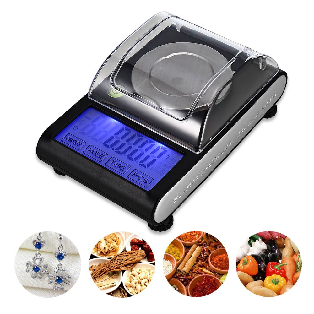 50g / 0.001g High Precision Touch Screen Portable Electronic Digital Diamond Jewelry Scale Gold Lab Balance
