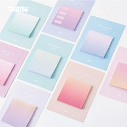 Rainbow Northern Europe memo pad paper sticky notes notepad stationery papeleria school supplies material escolar
